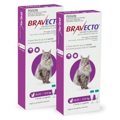 Bravecto Spot On For Cats Purple 6.25-12.5kg 4 Pack
