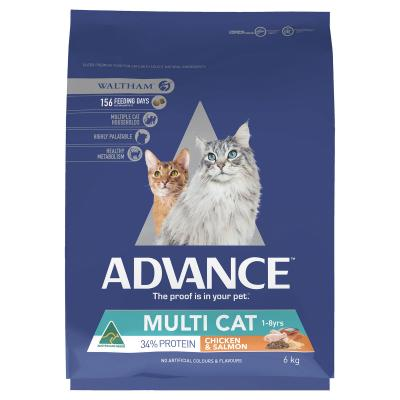 Advance Multi Cat Chicken And Salmon Adult Dry Cat Food 6kg