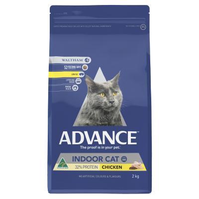 Advance Indoor Chicken Adult Dry Cat Food 2kg