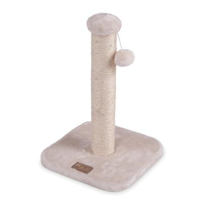 Kazoo Cat Scratching Post Cream Medium With Ball Toy For Cats