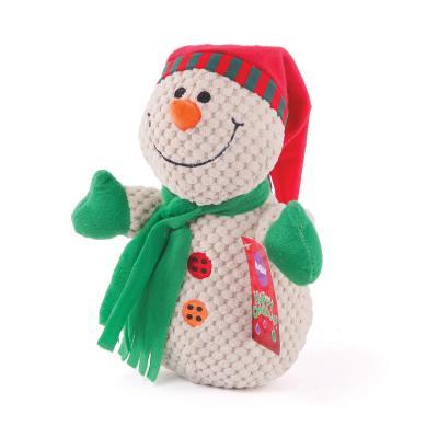 Kazoo Christmas Plush Squeak Snowman Medium Toy For Dogs