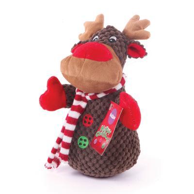 Kazoo Christmas Plush Reindeer Squeak Medium Toy For Dogs