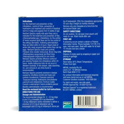 NexGard Spectra Chewables For Dogs Orange 2-3.5kg 3 Pack