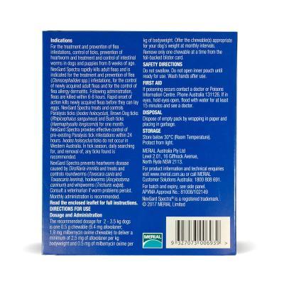 NexGard Spectra Chewables For Dogs Orange 2-3.5kg 9 Pack