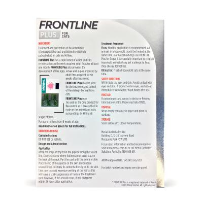 Frontline Plus For Cats 9 Pack