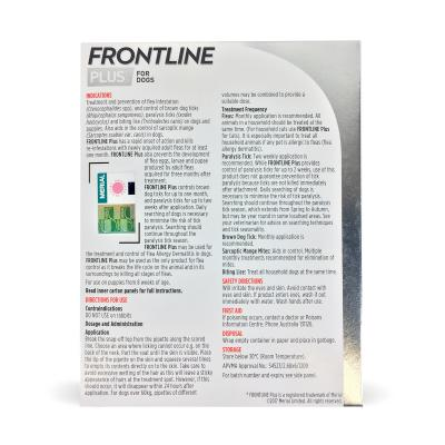 Frontline Plus For Dogs Large 20-40kg 6 Pack