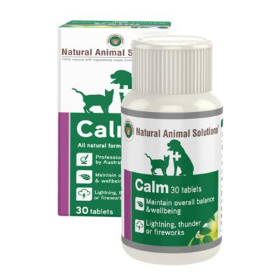 Natural Animal Solutions Calm For Dogs And Cats 30 Tablets