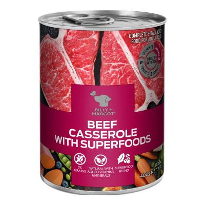 Billy + Margot Beef Casserole With Superfoods Adult Wet Canned Dog Food 12 x 400g