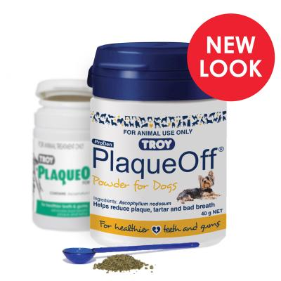 Troy ProDen PlaqueOff Powder For Dogs Blue 40gm