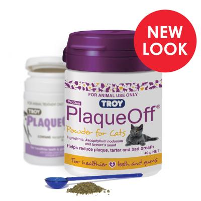 Troy ProDen PlaqueOff Powder for Cats Purple 40gm