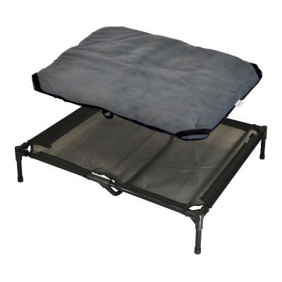 FlashPet Trampoline Bed Black Mesh With Fleece Mat Large For Dogs