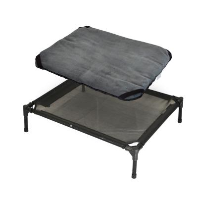 FlashPet Trampoline Bed Black Mesh With Fleece Mat Medium For Dogs And Cats