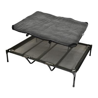 FlashPet Trampoline Bed Black Mesh With Fleece Mat XLarge For Dogs
