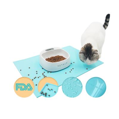 PETKIT Silicone Spillproof Pet Feeding Bowl Mat Blue For Dogs And Cats
