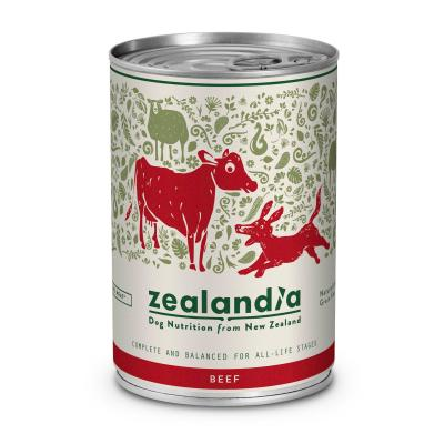 Zealandia Grain Free Beef Adult Wet Canned Dog Food 370g x 12
