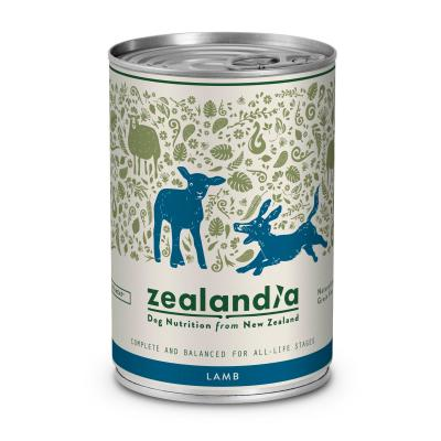 Zealandia Grain Free Lamb Adult Wet Canned Dog Food 370g x 12