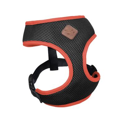 Kazoo Active Soft Walking Harness Slate Grey Orange Small 40cm Neck x 48-66cm Girth For Dogs