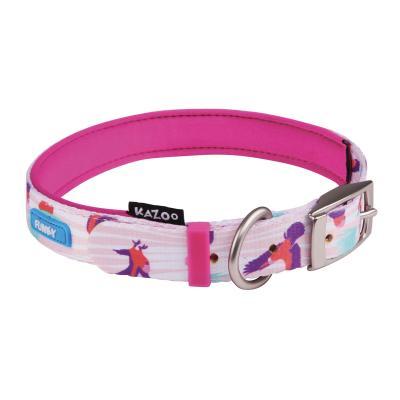 Kazoo Funky Nylon Collar Galahs 45cm x 15mm Medium For Dogs