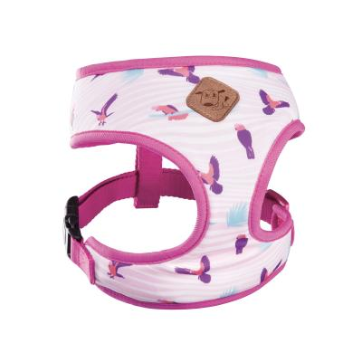 Kazoo Funky Soft Walking Harness Galah Medium 46cm Neck x 58-82cm Girth For Dogs