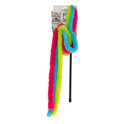 Trouble & Trix Bliss Towel Wand Teaser Catnip Toy For Cats 90cm