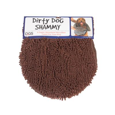 DGS Dirty Dog Shammy Towel Brown For Dogs
