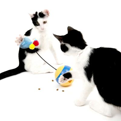Catit Spinning Bee Tumbler Interactive Treat And Food Dispenser Toy For Cats