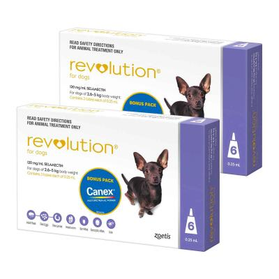 Revolution For Dogs 2.6-5kg Purple 12 Pack With Canex Tablets