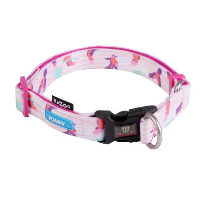 Kazoo Funky Adjustable Nylon Collar Galahs 37-55cm x 20mm Large For Dogs