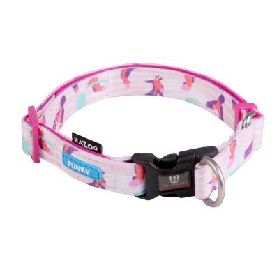 Kazoo Funky Adjustable Nylon Collar Galahs 47-73cm x 25mm XLarge For Dogs