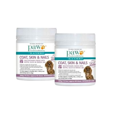 Paw By Blackmores Coat, Skin & Nails Multivitamin Chews 600gm (2 x 300gm)