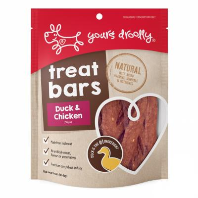 Yours Droolly Treat Bar Duck And Chicken Treats For Dogs 250gm