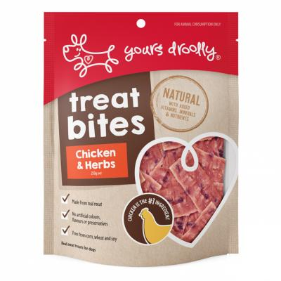 Yours Droolly Treat Bite Chicken And Herbs Treats For Dogs 250gm