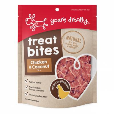 Yours Droolly Treat Bite Chicken And Coconut Treats For Dogs 250gm