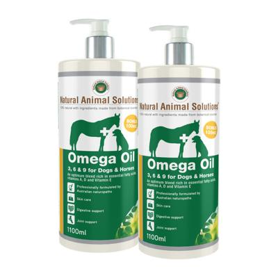 Natural Animal Solutions (NAS) Omega 3,6 & 9 Oil For Dogs And Horses 2L (2 x 1litre)