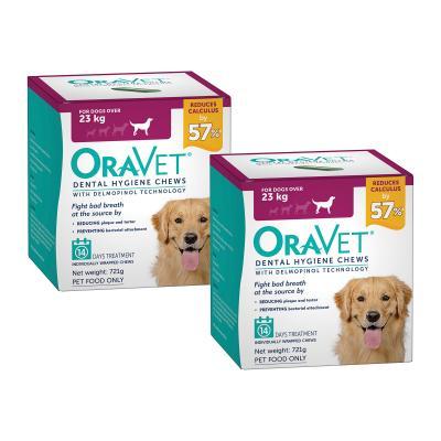 OraVet Dental Chews Large Dogs Over 23kg 28 Days Treatment (2 x 14)