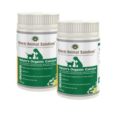 Natural Animal Solutions Natures Organic Calcium For Dogs And Cats 400gm (200gm x 2)