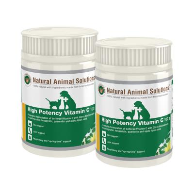 Natural Animal Solutions (NAS) High Potency Vitamin C For Dogs And Cats 200gm (100gm x 2)