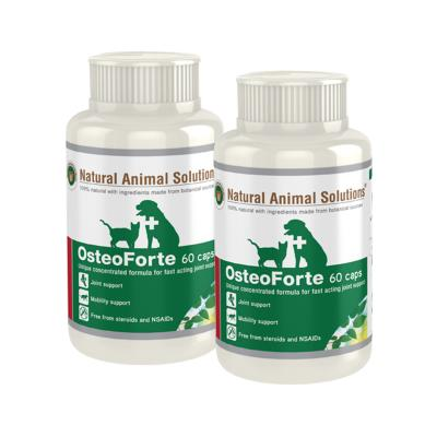 Natural Animal Solutions Osteoforte For Dogs And Cats 120 Caps (2 x 60 Caps)