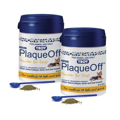 Troy ProDen PlaqueOff Powder For Dogs Blue 80gm (2 x 40gm)