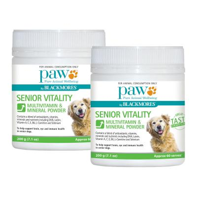 PAW By Blackmores Senior Vitality Multivitamin Mineral Powder For Dogs 400gm (2 x 200gm)