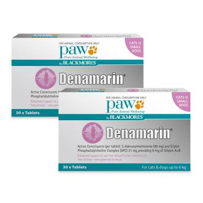 Paw By Blackmores Denamarin 90mg For Cats & Small Dogs Up To 6kg 60 Tablets (2 x 30 Tablets)