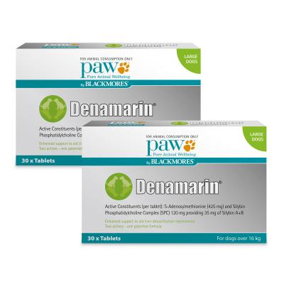 PAW By Blackmores Denamarin 425mg For Large Dogs Over 16kg 60 Tablets (2 x 30 Tablets)