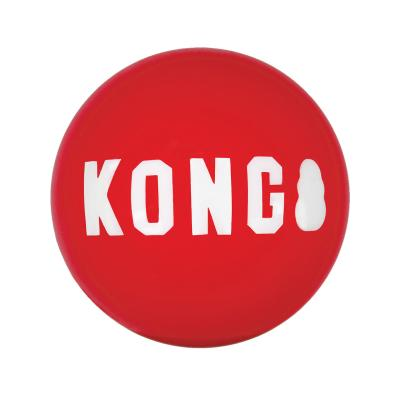KONG Signature Ball Durable Super Bounce Squeak Toy Medium For Dogs 2 Pack