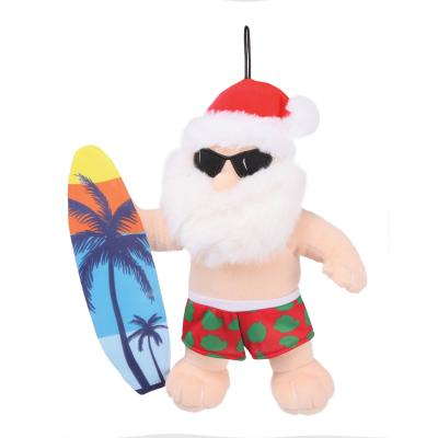 Kazoo Christmas Surfing Santa Medium Toy For Dogs