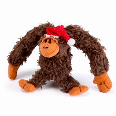 Kazoo Christmas Plush Gorilla Medium Toy For Dogs