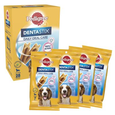 Pedigree Dentastix Value Pack of 28 Sticks For Medium Dogs