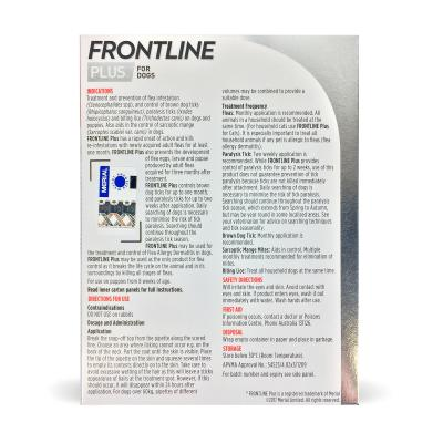 Frontline Plus For Dogs Extra Large 40-60kg 9 Pack