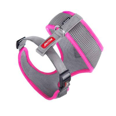 Kazoo Active Soft Walking Harness Silver Pink Medium 46cm Neck x 58-82cm Girth For Dogs