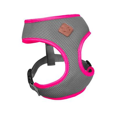 Kazoo Active Soft Walking Harness Silver Pink XXS 27cm Neck x 33-44cm Girth For Dogs
