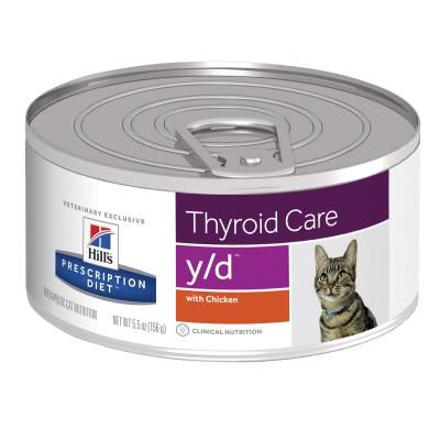 Hills Prescription Diet Feline y/d 156g x 24 Canned Wet Cat Food (1496)